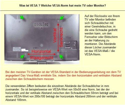 Tv Monitor Wandhalterung A3 Für 17 32 Zoll Amazonde Elektronik