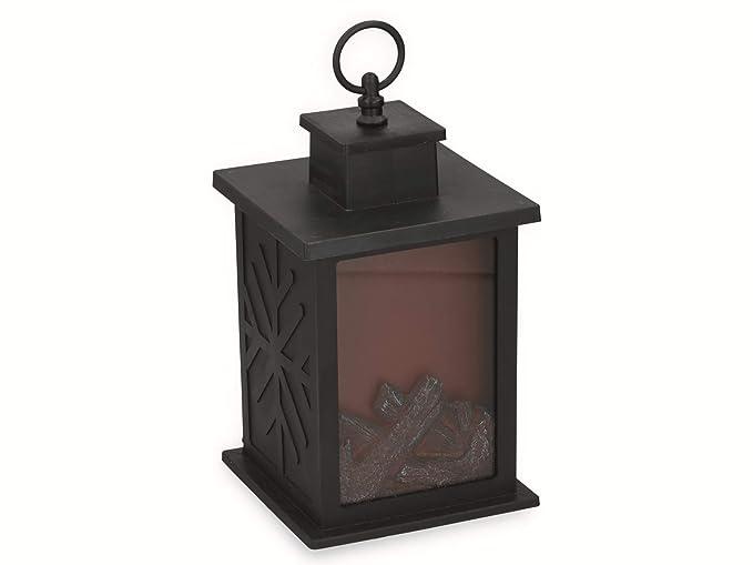 Lámpara LED para chimenea con efecto de llama ámbar para ...