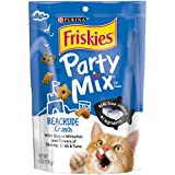Friskies Party Mix Cat Treats, Beachside Crunch, Shrimp, Crab & Tuna Flavors, 6-Ounce Pouch, Pack of 7 Review