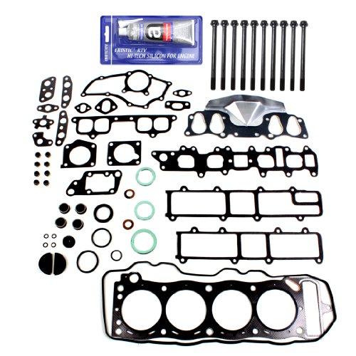 NEW EH027T1HBSI Graphite Cylinder Head Gasket Set, Head Bolt Kit, RTV Gasket Maker for Toyota 2.4L Pickup 4Runner Celica 22RE 22REC SOHC (8-Valve) Engine 1985-95