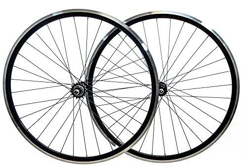 AEROMAX Track 700c Single Speed Freewheel / Fixed Gear Wheelset Bike Black NEW (700c Fixed Gear)