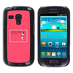All Phone Most Case / Hard PC Metal piece Shell Slim Cover Protective Case for Samsung Galaxy S3 MINI NOT REGULAR! I8190 I8190N Ex Relationship Training Pink Funny Quote