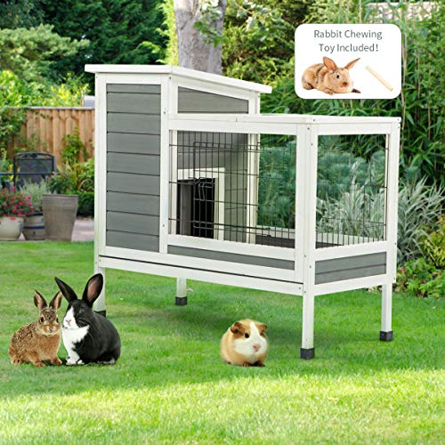 Yamadao Rabbit Cage Indoor Rabbit Hutch with Deeper Removable Tray,38.97″ L x 18.11″ W x 33.85″ H