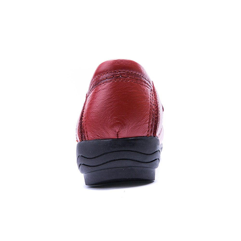 XDX Taste Of Life Flat Casual Womens Resistant Shoes Oxfords Leather Slip On Loafers