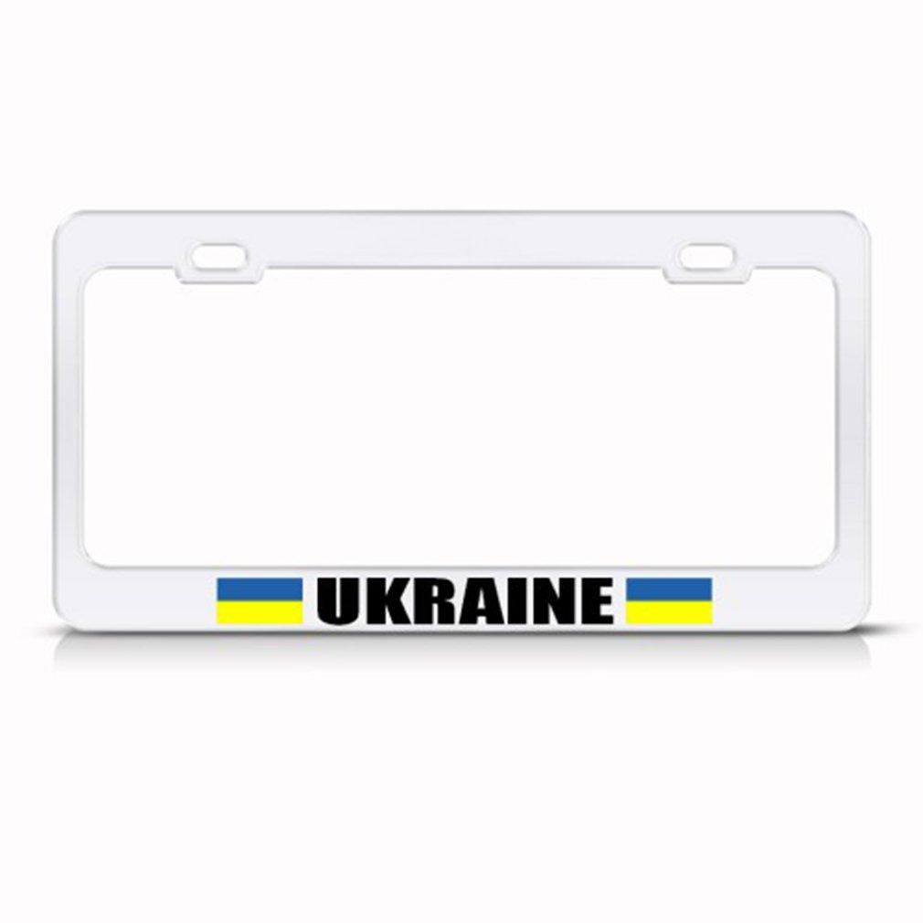 Ukraine Ukrainian Flag License Plate Frame Tag Holder