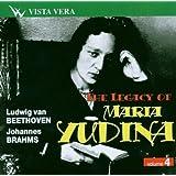 Beethoven, Brahms : The Legacy of Maria Yudina, Piano Sonata, N°29 [Import anglais]