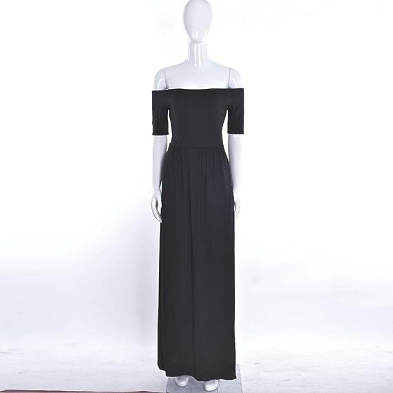 Yesmile 💋💝Vestido de Mujer Vestido Largo Vestido de Estampado Vestido Elegante de Noche para Boda Vestido Largo Formal de Baile Vestido de la Dama de ...