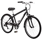 Schwinn Suburban Comfort Hybrid Bike, Featuring Step-Over Steel Frame and 7-Speed Drivetrain with...
