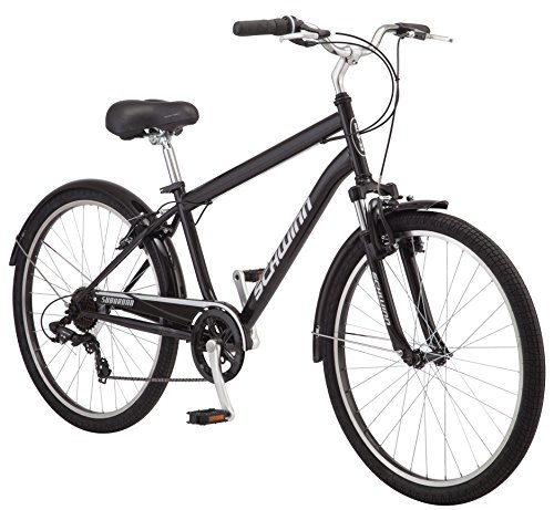 4957f293e7e Schwinn Suburban Comfort Hybrid Bike, Featuring Step-Over Steel Frame and 7 -Speed
