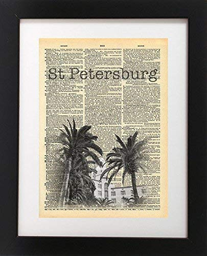 (St Petersburg Vinoy Hotel Vintage Dictionary Print 8x10 inch Home Vintage Art Abstract Prints Wall Art for Home Decor Wall Decorations For Living Room Bedroom Office Ready-to-Frame)