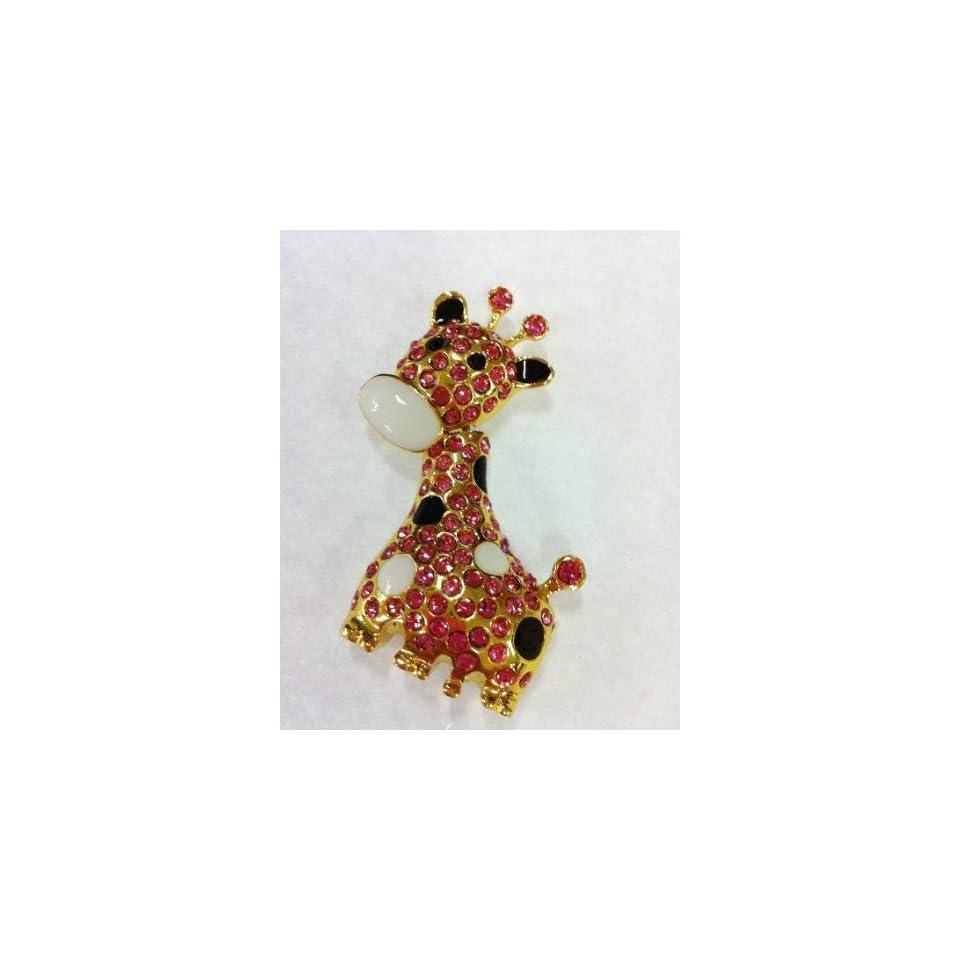 Shiny Full Crystal Diamonds Lovely Giraffe Style USB Flash Drive 8GB(Limited Sale)
