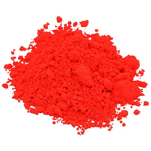 Premium 1 Oz NEON RED Mica Pigment Powder Liquid Gold Soap C