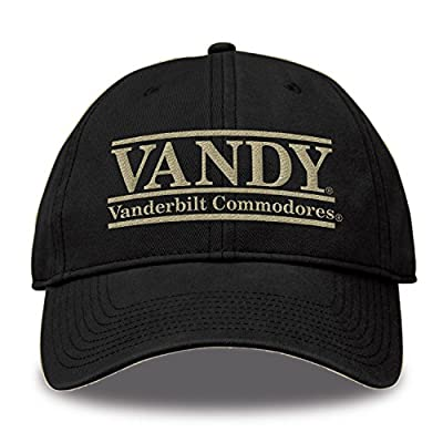 The Game NCAA Vanderbilt Commodores Bar Design Classic Relaxed Twil Hat, Black, Adjustable by MV CORP. INC