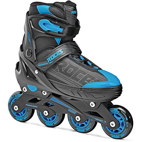 Roces 400810 Men's Model Jokey 1.0 Adjustable Inline Skate, US 10jr-12jr, Black/Astro Blue by Roces