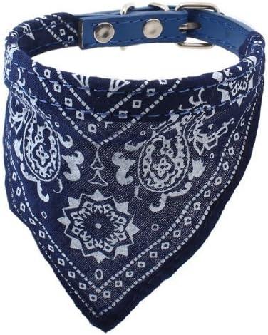 Soccik Einstellbar Dreieck Schal Halskette Hundewelpen Kragen Schal Haustier Halstuch Hund G/ürtel Schal Kragen Decor aus Leder Blau
