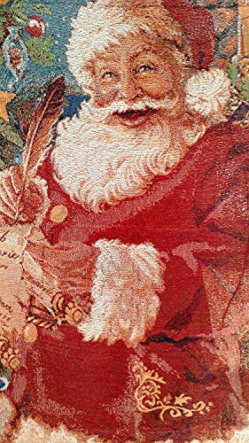 Tache Christmas Old St Nick Woven Tapestry Throw Blanket, 50