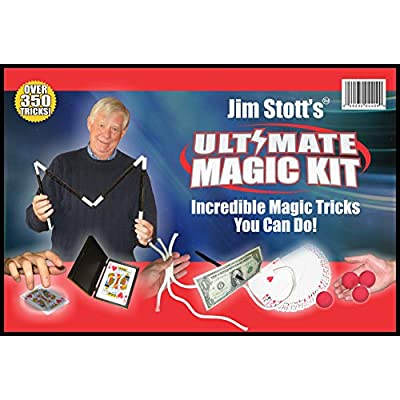 Jim Stott's 'Ultimate Magic Kit' for Kids of All Ages with,Magic Cards Box, Svengali Card Deck, The 3 Rope Mystery, The Incredible Levitation System, Magic Sponge Balls, Magic Pen Penetration: Toys & Games