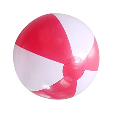 "14"" Gonflable de Plage Piscine / Pool Party Balle Rouge En Blanc"