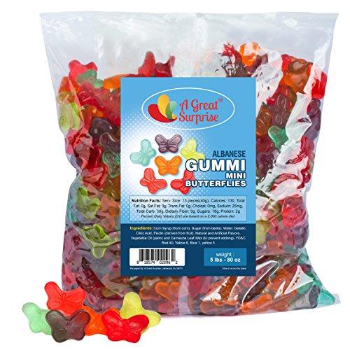Gummy Butterflies Candy - Gummi Mini Butterflies - Butterfly Gummies - Bulk Candy 5 LB