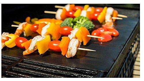 UMIGAL Set aus 2 Höchste Qualität Grill Matte BBQ Grill & Backen Mats Grillmatten für Gas-BBQ Grill