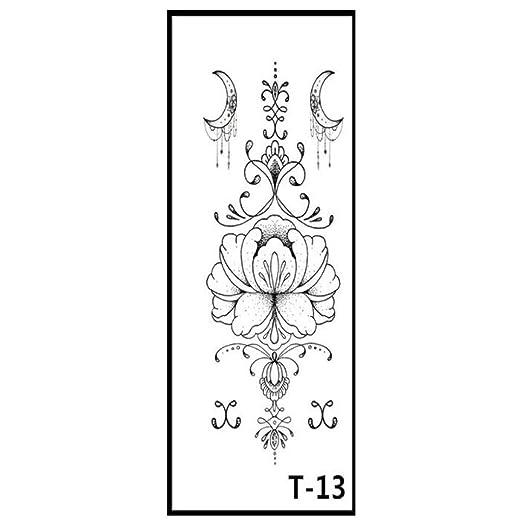 JIEIIFAFH Tatuaje Temporal de 6 Piezas for Mujer, Cintura Sexy ...
