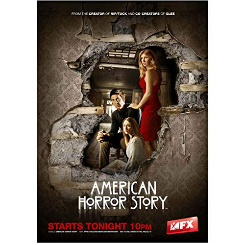 Connie Britton 8x10 Photo American Horror Story (TV Series 2011) w/Dylan McDermott Through Wall Title Poster 2 kn