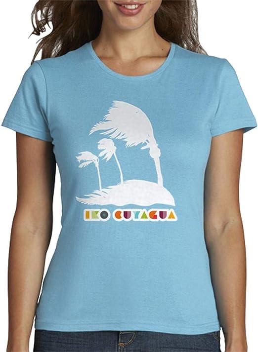 latostadora - Camiseta Palmeras Blancas Azotadas para Mujer: alangrane: Amazon.es: Ropa y accesorios