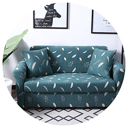 Sofa Cover Floral Pattern Sofa Cover Elastic Stretch Universal Sofa Slipcover Sectional Throw Couch Corner Cover for Furniture Armchairs,Color 11,2-Seater 145-185Cm