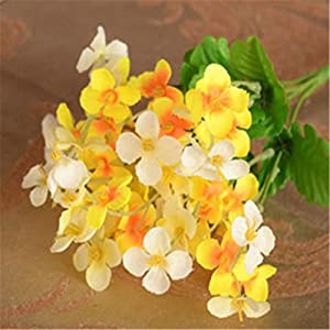 narutosak Artificial Plants 1Pc Primroses Simulation Bouquet Small Silk Flower Wedding Home Decor - Yellow 12