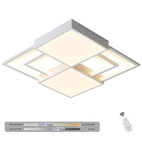 Lámpara de techo LED moderna Sala de estar regulable con ...
