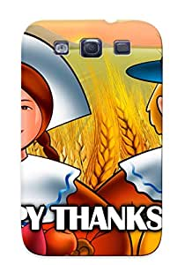 Exultantor Galaxy S3 Hybrid Tpu Case Cover Silicon Bumper Happy Thanksgiving