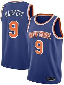 MMQQL Uniformes de Baloncesto de la NBA New York # 9 Barrett Retro de los Jerseys, Bordado clásico Camisa sin Mangas Camiseta, Malla Transpirable de Tela Sportwear: Amazon.es: Deportes y aire libre