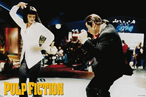 Pulp Fiction Movie Uma Thurman & John Travolta Dancing Poster Print