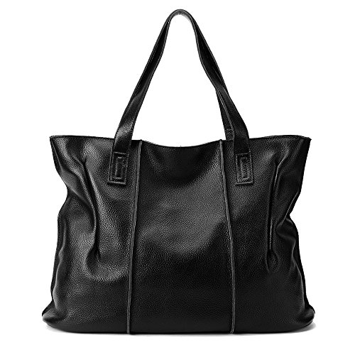 malluo Women Handbags Hobo Shoulder Bags Tote Leather Handbags Fashion Large Capacity Bags (black) by Malluo
