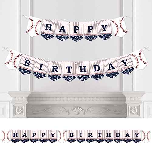 Batter Up - Baseball - Birthday Party Bunting Banner - Sports Party Decorations - Happy Birthday (Letters Wall Sports Hanging)
