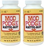 Mod Podge Waterbase Sealer, Glue and Finish 2 Pack(16-Ounce), CS11302 Matte Finish
