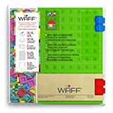 """WAFF Soft Silicone Cover Combo Personalized Notebook / Journal, Large 8.25"""" x 5.5"""", Green"""