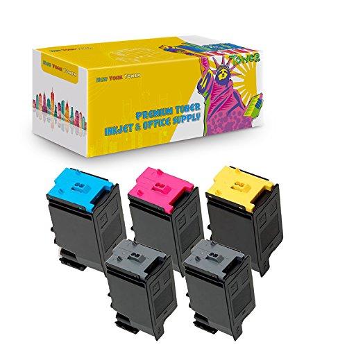 New York TonerTM New Compatible 5 Pack MX-C30NTB C M Y High Yield Toner for Sharp - MX C250, C300P, C300W, C301W . -- Black Cyan Magenta Yellow