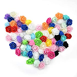 roses flowers in bulk wholesale Fake Flowers Heads Mini PE Foam Rose Flower Head Artificial Flowers for Home DIY Headdress Wreath Supplies Wedding Party Decoration 50Pcs/lot 3cm 35