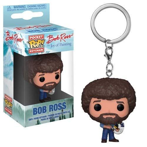 Funko POP! Keychain: TV Bob Ross Collectible Figure, Multicolor