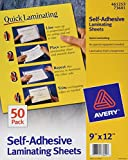 Avery Self-Adhesive Laminating Sheets, 9'' x 12'', Box of 50, Case Pack of 10 (73601)