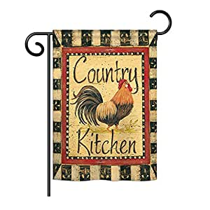 Breeze Decor G160107 - Bandera de cocina con diseño de animales de granja de 33 x 47 cm, multicolor