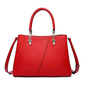 Runhuayou New Fashion Uncomplicated Multi-Function Enceinte Capacity Shoulder Bag Shoulder Slung Leather Handbag Great for Casual or Many Other Occasions Such (Color : Red)