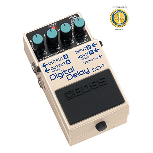 Boss DD-7 Digital Delay Guitar Effects Pedal with 1 Year EverythingMusic Extended Warranty - Guitar Delay Dd7 Boss Digital