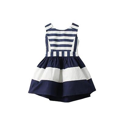 Robe bébé fille,Jimma Enfants tout-petits bébé filles rayures robe Princess Party concours robes Tutu sans manches