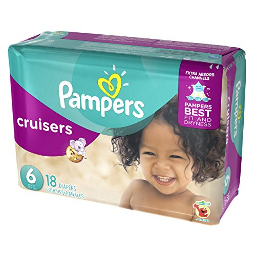 Price comparison product image Pampers Cruisers Diapers Size 6, 18 Count