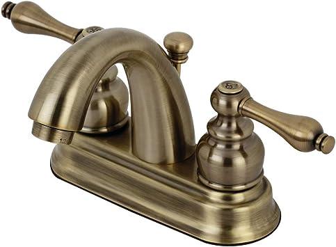 Kingston Brass Kb5613al Restoration 4 Inch Centerset Bathroom Faucet Antique Brass Amazon Com