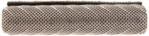 Flap Crystal Chevron Davis amp; Whiting Clutch Pewter EIwWUOBqn