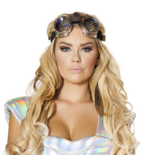 Roma Costume G107 Silver Iridescent Goggles