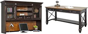 Martin Furniture Hartford Hutch, Brown - Fully Assembled & Furniture Hartford Writing Desk, Brown